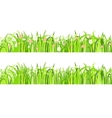 Two seamless patterns with grass and flowers vector image