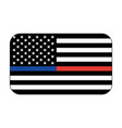 us honor flag icon vector image