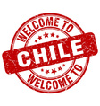 welcome to Chile vector image vector image