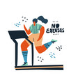 woman running on treadmill hand drawn vector image vector image