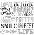 handwritten words and phrases words with vector image