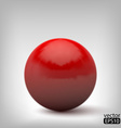 3d red ball vector image vector image