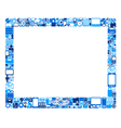 abstract tablet pc vector image vector image