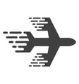 airplane with fast motion effect vector image