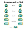 Aquamarine Set With Text vector image vector image