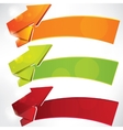 Arrow on abstract background vector image vector image