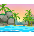 Beach view at sunset vector image vector image