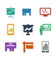 billboard icons vector image vector image