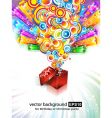 birthday or Christmas gift card vector image