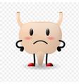 bladder realistic human organ sad character with vector image