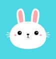 bunny rabbit round face head icon cartoon funny vector image