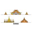 burma flat landmarks burma vector image vector image