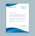 business style corporate letterhead vector image vector image