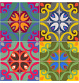 ceramic tiles with seamless pattern vector image vector image