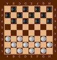 checkers ancient intellectual board game chess vector image