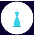 Chess king computer symbol vector image vector image