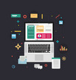 content marketing concept in flat design vector image vector image