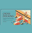 cross docking transportation logistics service vector image vector image