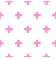 cross pink and white simple baby scandinavian vector image