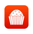 cup cake icon digital red vector image vector image