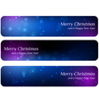 Dark christmas banners vector image