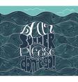 dear summer please do not go lettering vector image vector image