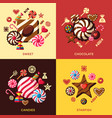Digital red brown sweet vector image