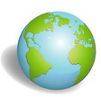 earth globes isolated on white background vector image vector image