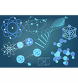 Eelements symbols and schemes of physics vector image