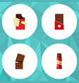 flat icon cacao set of chocolate shaped box