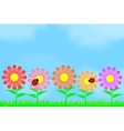 Flowers on the background of the sky vector image