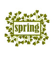 framed spring botanical composition with green vector image vector image
