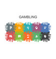 gambling cartoon template with flat elements vector image