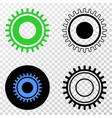 gear eps icon with contour version vector image vector image