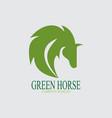 green horse logo vector image vector image