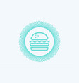 hamburger icon sign symbol vector image vector image