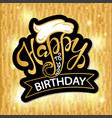 happy birthday beautiful greeting card poster vector image vector image