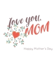 Happy Mothers Day flowers greeting card vector image vector image