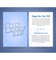 Happy New Year flyer design template vector image vector image