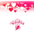 happy valentine s day feelings and love design vector image vector image