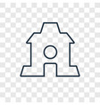 home concept linear icon isolated on transparent vector image