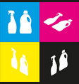 household chemical bottles sign white vector image vector image