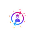human resources icon user profile sign
