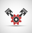 icon of automotive engine vector image vector image