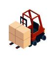 isometric logistics transportation isometric vector image