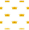 jewelry crown pattern flat vector image vector image