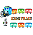 kids train vector image vector image