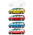minivan ambulance car vector image