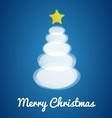 Modern Christmas tree card vector image