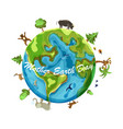 mother earth day cartoon earth on vector image vector image